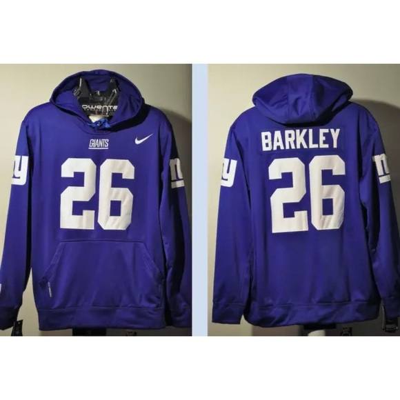 new product c02c3 147d4 Saquon Barkley Giants jersey hoodie